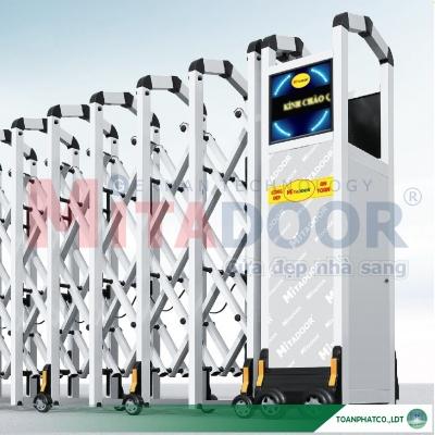 Cửa cổng xếp hợp kim nhôm Mitadoor MT 17128-B