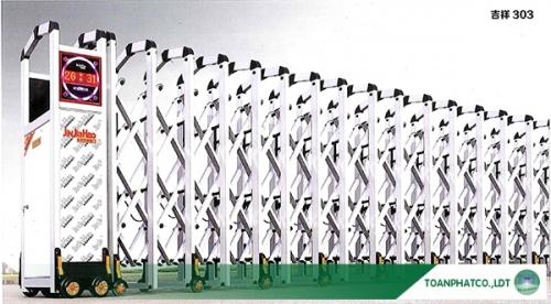 Cổng xếp hợp kim nhôm JH-303