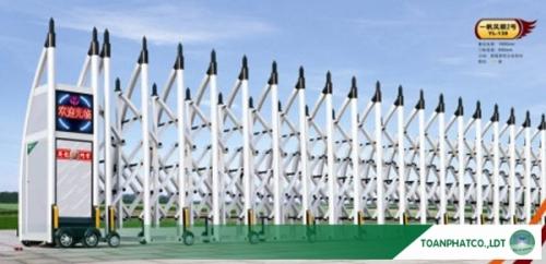 Cổng xếp hợp kim nhôm không đường ray YL-138