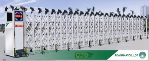 Cổng xếp hợp kim nhôm không đường ray YL-156