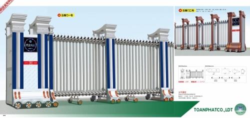 Cổng xếp hợp kim nhôm ANDA-079-080