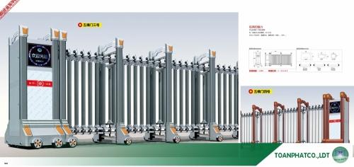 Cổng xếp hợp kim nhôm ANDA-081-082