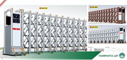 Cổng xếp hợp kim nhôm ANDA-097-098