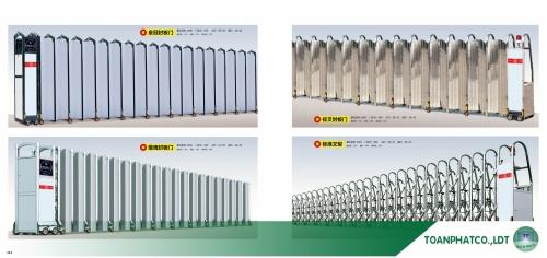 Cổng xếp hợp kim nhôm ANDA-111-112