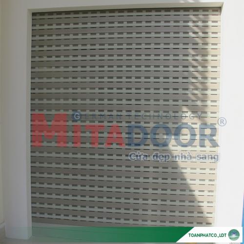 Cửa cuốn nhôm khe thoáng Mix76A Mitadoor